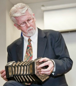 Professor O hAllmhurain with concertina
